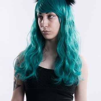 Murmaider - Green/Black Full Wig