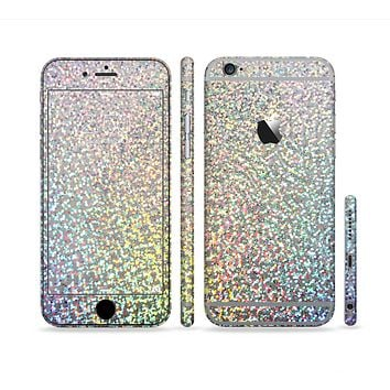 The Colorful Confetti Glitter Sectioned Skin Series for the Apple iPhone 6 Plus