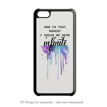 AND IN THAT MOMENT I SWEAR WE WERE INFINITE THE PERKS OF BEING A WALLFLOWER iPhone 5S Case Wijayanty.com