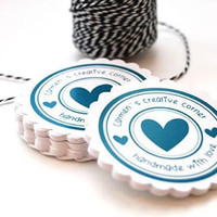 Handmade with love -Tag Printable for gifts - Tag Made with love for crafters -  Custom Color text and size included