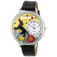 SheilaShrubs.com: Unisex Labrador Retriever Black Skin Leather Watch U-0130011 by Whimsical Watches: Watches
