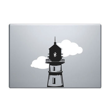 "Lighthouse Vinyl Decal / Sticker to fit Macbook Pro 13"" 15"" 17"" and Air 11"" 13"" - Custom sizes available - precision die cut light house"