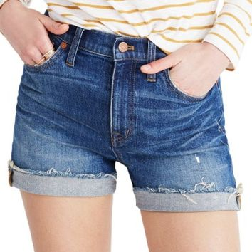 Madewell High Rise Cuffed Denim Shorts (Glen Oaks) | Nordstrom