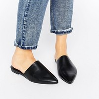 Vagabond Katlin Black Leather Flat Mules at asos.com