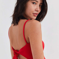 Oh My Love Cami Tie-Back Fit + Flare Dress | Urban Outfitters
