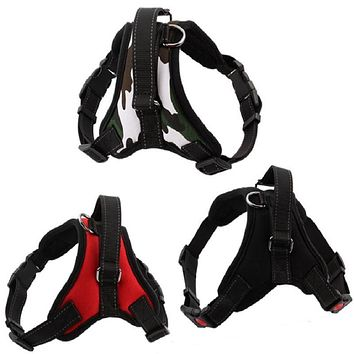 New hot Medium and large dog harness vest Reflective tape yarn Breathable and comfortable mesh pet dog leash big dog harness