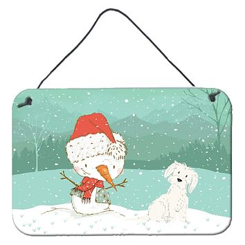 Maltese Snowman Christmas Wall or Door Hanging Prints CK2094DS812