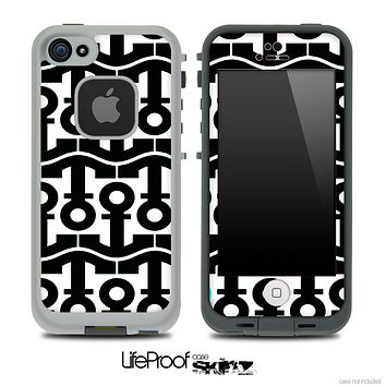 White and Black Anchor Collage Skin for the iPhone 5 or 4/4s LifeProof Case