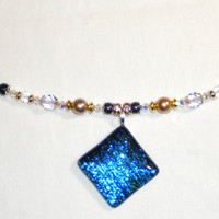 Doctor Who Inspired Time Travel Swarovski Crystal Necklace