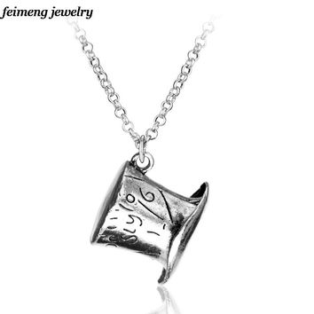Alice In Wonderland Hat Pendant Necklace for Women