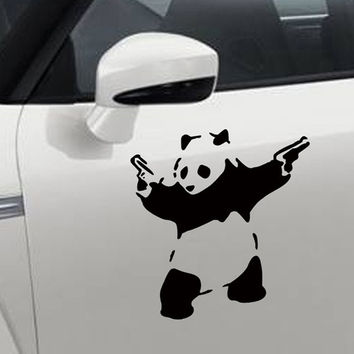 Fashion Cute Car Art Panda Car Sticker Decals Waterproof Car Decal On Door Drop Shipping HG-WS-1580 = 1705963908