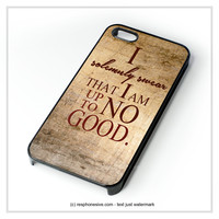 Harry Potter Quote - I Solemnly Swear That I Am Up To No Good iPhone 4 4S 5 5S 5C 6 6 Plus , iPod 4 5 , Samsung Galaxy S3 S4 S5 Note 3 Note 4 , HTC One X M7 M8 Case