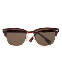 Square frame sunglasses - Dark Red | Sunglasses | Ted Baker