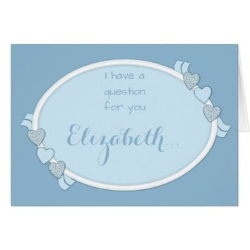 Will you be my Bridesmaid Note Card blue