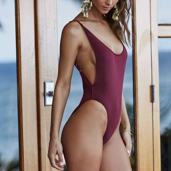 LIONESS Bo Derek Low Back One Piece Swimsuit at PacSun.com