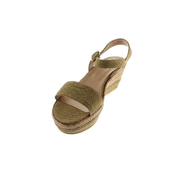 Stuart Weitzman Womens San Juan Braided Raffia Wedges