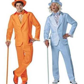 Dumb & Dumber Orange and Blue Adult Costume Tuxedo  - Costumes - | TV Store Online