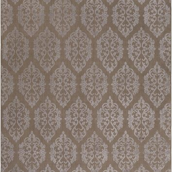 Surya Tidal Medallions and Damask Brown TDL-1020 Area Rug