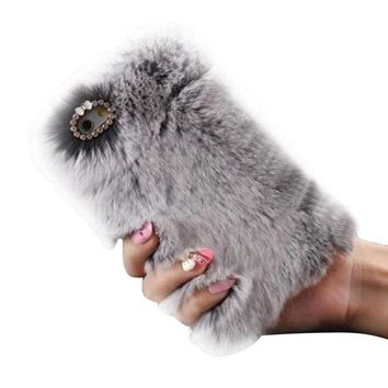 DCCKV2S DDLBiz Fluffy Villi Fur Plush Wool Case Cover Skin For iphone 7 Plus 5.5inch