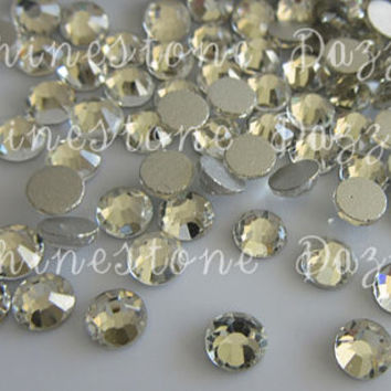 Quality ss16 Non Hotfix Clear Crystal Silver Flat Back Rhinestones, 4mm Non Hotfix Clear Crystal Flat Back Rhinestones, 16ss rhinestones
