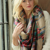 Over sized Plaid Blanket scarf