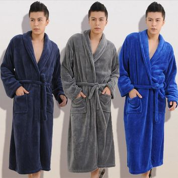 2017 Winter Autumn  thick  flannel men's women's  Bath Robes  gentlemen's homewear male sleepwear lounges pajamas pyjamas