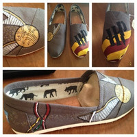 Harry Potter Inspired custom painted TOMS by TreatYoself17 on Etsy