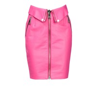 Leather Skirt Women - Moschino Online Store