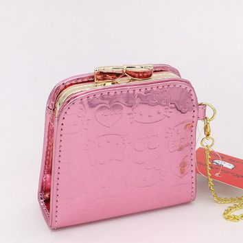 Cute Pink Hello Kitty Feminine Coin Purse