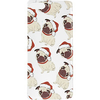 River Island Womens Beige santa pug clear iPhone 5C case