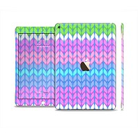 The Bright-Colored Knit Pattern Skin Set for the Apple iPad Air 2