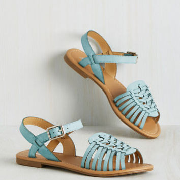 Worldly Wanderings Sandal in Aqua