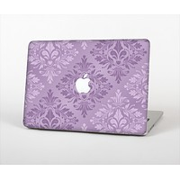 The Light and Dark Purple Floral Delicate Design Skin Set for the Apple MacBook Air 13""