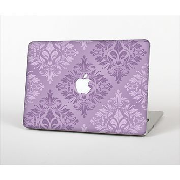 The Light and Dark Purple Floral Delicate Design Skin Set for the Apple MacBook Pro 13""