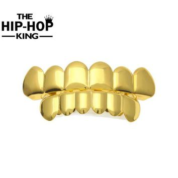 ac DCCKO2Q Silver Color Top Bottom Teeth GRILLZ  Mouth Teeth Caps Hip Hop Grills with Silicone mode