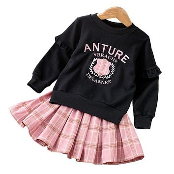 Children Clothing Autumn Winter Toddler Girls Clothes Outfits Kids Clothes Tracksuit Suit For Girls Clothing Sets 3 4 5 6 7 Year