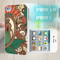 unique iphone case, i phone 4 4s 5 case,cool cute iphone4 iphone4s 5 case,stylish plastic rubber cases cover, indian floral pattern bp2112