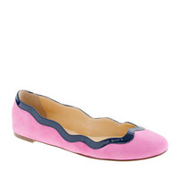 Scalloped ballet flats - ballet flats - Women's shoes - J.Crew