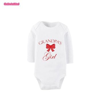 Cublutomind Grandpas Girl Summer Cotton Long Sleeve Baby Bodysuits Cute Baby Boys Girls Outfit Baby Shower Gift for Nb-12Months