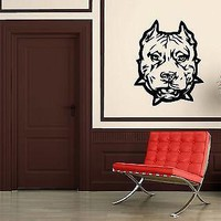 Wall Stickers Vinyl Decal Animal Hound Dog Bulldog Pitbull Pet Unique Gift ig1524