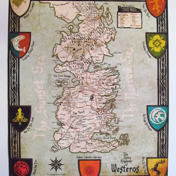 photo regarding Printable Map of Westeros known as Great Westeros Map Products and solutions upon Wanelo