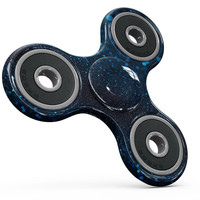 50 Shades of Unflocused Blue Full-Body Fidget Spinner Skin-Kit