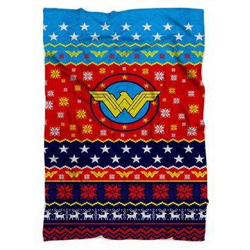 Wonder Woman Christmas Blanket