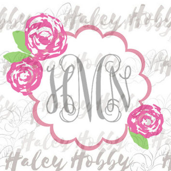Lilly Southern Monogram SVG Silhouette Digital Download cut file