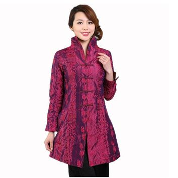 Cool Purple Chinese Style Women Silk Satin Jacket Embroidery Coat Autumn Winter Windbreaker Tang Suit Top Plus Size 4XL 5XL T045AT_93_12