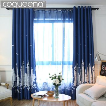 Shop navy bedroom on wanelo for B q living room curtains