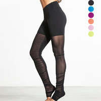 Jogging Fitness Workout Patchwork Lace Yoga Gym Pants [10321053446]