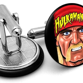 Hulk Hogan Portrait Cufflinks