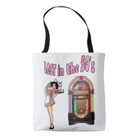 Lost in the 50's tote bag