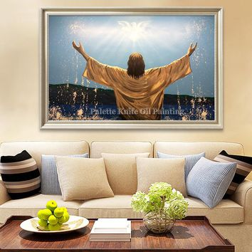 Jesus Christ Jesus Canvas Posters and Prints Wall Art Pictures for living room Home Decor cuadros decoracion Oil painting 114